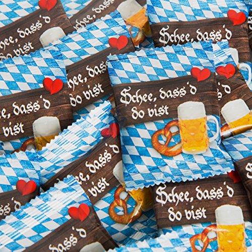 25 Stück kleine BAYERN blau weiß Gummibärchen give-away Geschenk SCHÖN DASS DU DA BIST Gastgeschenk give-away Hochzeit Oktoberfest bayerisch Geschenk Mitgebsel Bier-Fest kariert Souvenir