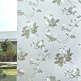 Fensterfolie aufkleber fenster papier statische elektrizität klebstoff windows und windows wärmedämmung sonnenschutz balkon toilette bad-B 100x200cm(39x79inch)