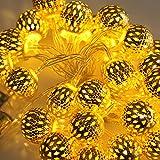 Sharplace LED String Stringa Light Strip Lampada 30-LED Festa di Natale Decoro Ideale anche per Giardini, Muri, Recinzioni, Tetti, Alberi, Barche