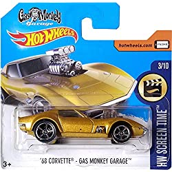 Hot Wheels '68 Corvette - Gas Monkey Garage HW Screen Time 3/10 (Short Card)