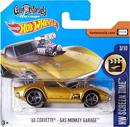 Hot Wheels '68 Corvette - Gas Monkey Garage HW Screen Time 3/10 (Short Card)
