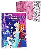 Unbekannt Heftbox / Ordner A4 -  Disney die Eiskönigin / Frozen  - incl. Name - für Hefte, Zettel und Mappen - Mappe Ordnermappe / Ordnungsmappe Hefter - A 4 - Kinder..