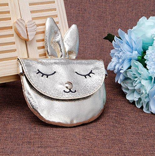 Dairyshop Sacchetti di spalla del supporto dei soldi delle ragazze dei bambini dei bambini del bambino del coniglio dei nuovi bambini (Nero) Oro