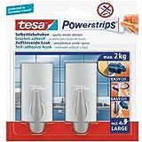 Tesa 58055-00004-03 Powerstrips Hooks Large TREND Chrome