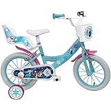 """Disney La Reine des Neiges Vélo Mixte Enfant, Blanc/Bleu, 16"""""""