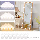 Hollywood Style Mirror Lights Kit DIY, LED Vanity Makeup Lamp 14 Globe Bulbs Dimmable Stick on to Mirror USB with 3…