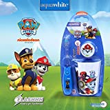 #9: aquawhite PAW PATROL Flashhh Toothbrush Set,3 pcs, Gifting idea for all occasions, Kids Timer Flashlight Toothbrush Blue (Waterproof, Shockproof with non-replaceable in-built Battery) with Rinsing Cup & Hygiene Cap, Health & Personal Care.