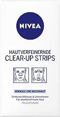 Nivea Hautverfeinernde Clear-Up Strips, 1er Pack (1 x 4 x Nasen- und 2 x 2 Stirn-/Kinn-Streifen)