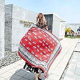 Sciarpa regalo a muffola Sciarpa estiva da donna in seta stile etnico elefante modello scialle sciarpa lunga spiaggia al mare vacanza scialle (Colore: rosso) Sciarpa di moda ( Colore : Red )