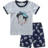WonderBabe Ropa de bebé recién nacido, sin mangas, cuello redondo, con estampado de letras, camiseta + pantalón corto con est