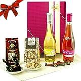 """Geschenke für Frauen - Der Geschenkkorb """"Käfer Hugo NERO"""" überzeugt als beste Freundin Geschenk mit 5 Spezialitäten und ist als Frauen Geschenk oder Geburtstagsgeschenk für Frauen zur Party ideal geeignet"""