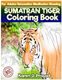 SUMATRAN TIGER Coloring book for Adults Relaxation  Meditation Blessing: Sketches Coloring Book Grayscale Images
