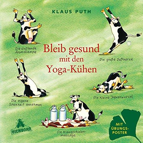 Yoga-Kühen (Komische Kuh)