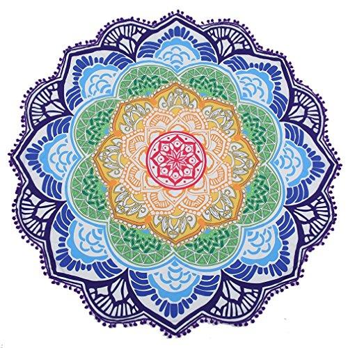 OUMIZHI® Mandala Round Lotus Beach Throw Tapisserie Decke Teppich Hippie Boho Zigeuner Tischdecke Strand Handtuch Runde Yoga Mat -