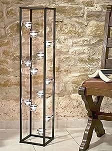 DanDiBo Colonne Lumière Porte bougie chauffe-plat 100cm Bougie chauffe-plat Support pour 12 Bougie chauffe-plat 93004 Chandelier