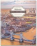 DÉKOKIND Vokabelheft   DIN A4, 84 Seiten, 2 Spalten, Register, Vintage Softcover   Dickes Vokabelbuch   Motiv: United Kingdom