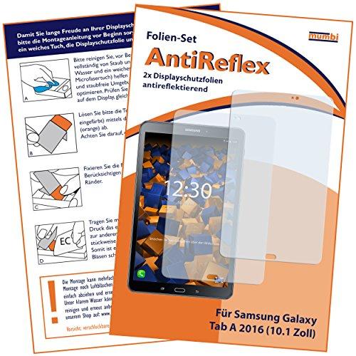Preisvergleich Produktbild 2 x mumbi Displayschutzfolie für Samsung Galaxy Tab A 2016 (10.1 Zoll) Schutzfolie AntiReflex matt