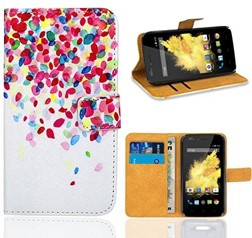 Wiko Birdy Handy Tasche, FoneExpert Wallet Case Flip Cover Hüllen Etui Ledertasche Lederhülle Premium Schutzhülle für Wiko Birdy