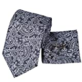 LLTYTE Prêt à l'emploi Noir Blanc Paisley Micro Cravates Homme Cravates Homme Cravates Micro Cravates Produit Adapté aux Occasions Formelles Réunions d'affaires...
