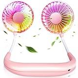 LETOUR Ventilatore portatile, mini ventilatore da collo USB ricaricabile funzione di aromaterapia, ventilatore da collo con d