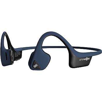 AfterShokz Trekz Air Bluetooth Casque Conduction Osseuse Oreille Ouverte Ecouteurs Bloothooth sans Fil pour Sport avec Microphone, Bleu Nuit