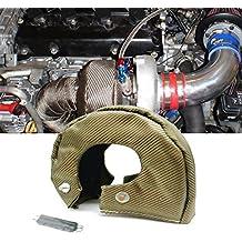 Turbo protección Cover Turbocompresor aislamiento Heat Shield manta titanio Cable de turbina, cierre suspensión para