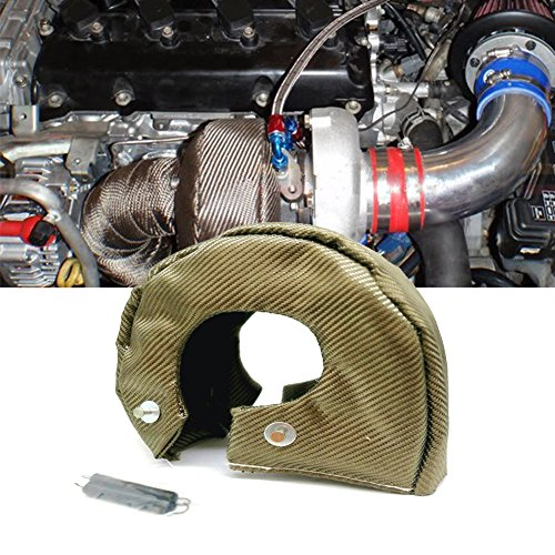 Turbo Cover Schutz Turbolader Isolierung Hitzeschild Decke Titanium Fasern Turbine Cover Verschluss Springs Heizung Barriere -