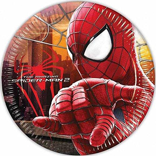 Generique - 8 Assiettes Spiderman 23 cm