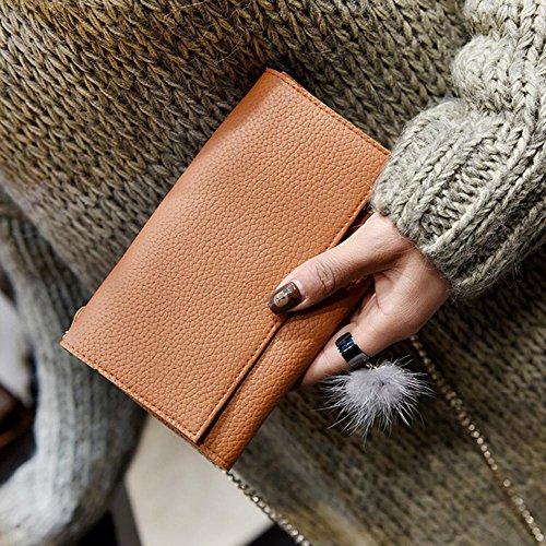 Longra Donne Borsa a tracolla moda Marrone