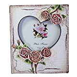 Giftgarden Bilderrahmen für 10x10 Fotodisplay Herzform mit Rosen Geschenke für Freunde