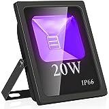 Eleganted 20W LED zwartlichtspot, UV-schijnwerper met stekker, IP66 waterdichte zwartlichtlamp, fluorescentie blacklight, UV-