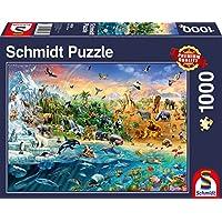 Schmidt Spiele Puzzle 58324 Die Welt Der Tiere, Puzzle, 1000 Teile