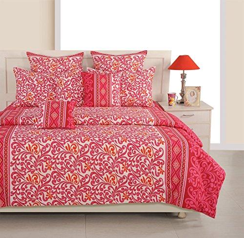 Yuga 8 Stück in der Tasche Set rot-weiß Baumwollmaterial Tröster Bettwäsche-Set Bett -