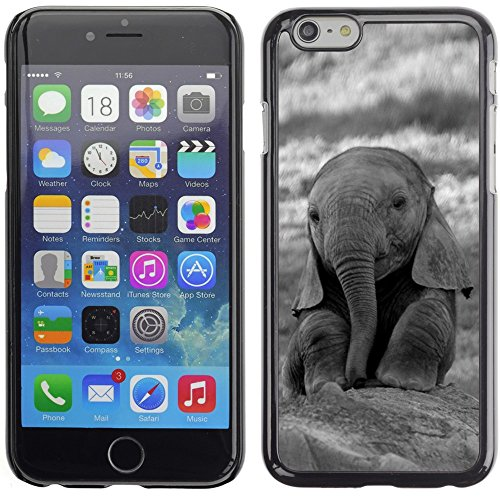 Graphic4You Elefant Tier Drawing Painting Design Harte Hülle Case Tasche Schutzhülle für Apple iPhone 6 Plus / 6S Plus Design #3