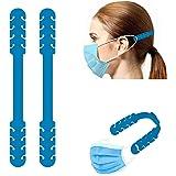 TBOC Verstelbare Maskerverlengingshaak - [Pack 2 Eenheden] Extender Haken [Blauw] Siliconen Hook met Grepen Anti-Aanspanning