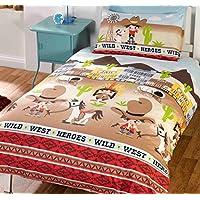 Multi Polyester- Bedlam Cowboys und Indianer Kinder Spannbetttuch Single 190/x 90/x 15/cm
