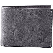 3f1ada25c78ec Bevalsa Vintage Portemonnaie aus Leder für Herren Geldbörse Brieftasche  Ledergeldbörse Geldbeutel Etui kreditkarten Fächer Portmonee im