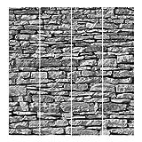 Bilderwelten Schiebegardinen Stonewall - 4 Flächenvorhänge Ohne Aufhängung, 4X á 250 x 60cm
