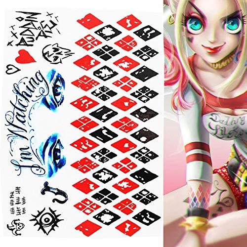 EROSPA® Tattoos-Bogen / Sticker temporär - Suicide Squad Harley Quinn Joker