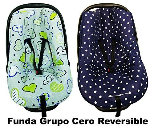 FUNDA GRUPO CERO UNIVERSAL REVERSIBLE - CORAZONES AZULES
