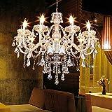 Iglobalbuy 10 Bulbi moderna Luxurious Boutique Rustic Lodge Chandelier K9 illuminazione di candela di cristallo disimpegno Sala da pranzo H25.59 'x W35.43'