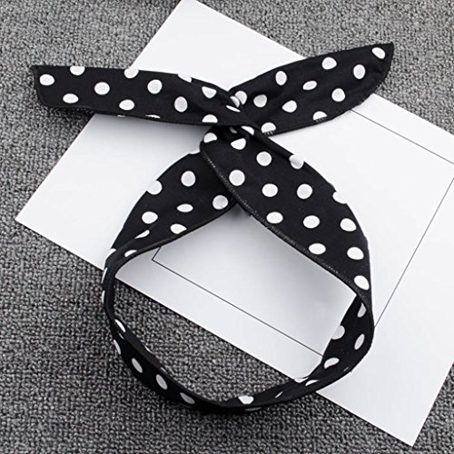 Xin Yu Yue Firm Polka Dot rétro Style Headband Filles Simple Large Bord de Cheveux Bande (Couleur : 2)