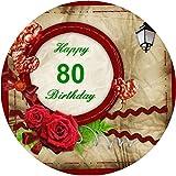 Tortenaufleger 80. Geburtstag 02