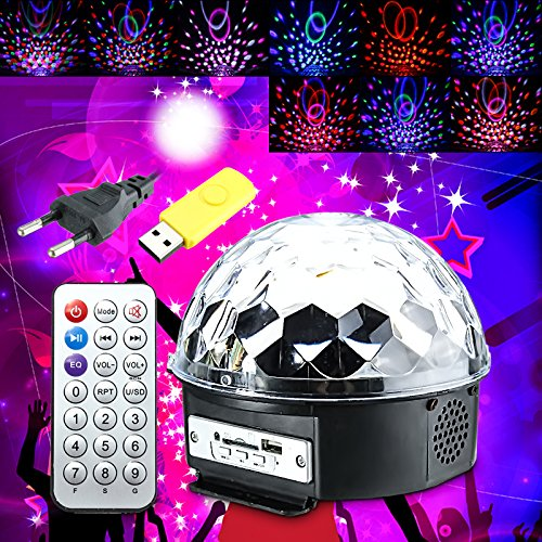 JINHUGU 18W LED RGB Crystal Magic Ball Disco Party Effekt Digital Bühnenlicht für Weihnachten Halloween New