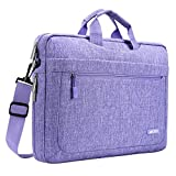 MOSISO Bolsa de Hombro para 11.6-13.3 Pulgadas MacBook Air / MacBook Pro / Notebook Computadora, Poliéster Mensajero Maletín de Transporte de la Carcasa con Profundidad Ajustable en la Parte Inferior, Púrpura