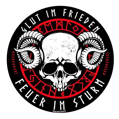 Preisvergleich Produktbild Loki Glut im Frieden -Feuer im Sturm-Odin Thor Götter Aufkleber Autoaufkleber Sticker Vinylaufkleber Decal