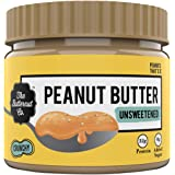 The Butternut Co. Peanut Butter Unsweetened, Crunchy 340 gm (No Added Sugar, Vegan, High Protein, Keto)