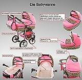 Chilly Kids Dino Kombikinderwagen (Regenschutz, Moskitonetz, Schwenkräder) 01 Schwarz & Weiß - 3