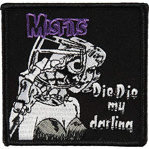 MISFITS Die Die My Darling Patch Fleck, Officially Licensed Products Classic Rock Artwork, Iron-On / Sew-On, 3
