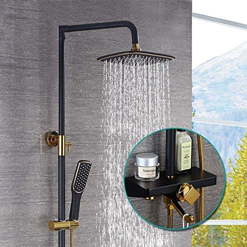 dusche thermostat kupfer schwarzes gold dusche anzug wall chrome hell - dusche, dusche voller kupfer dusche anzug -